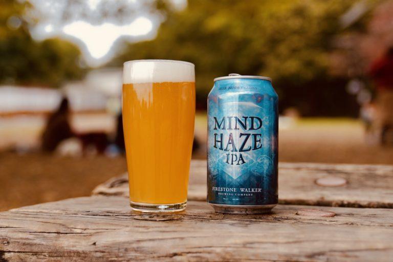 「Mind Haze」(マインド ヘイズ)」。ジューシーでありながらスッキリとした飲み心地のIPA。パイナップルやライチなどのトロピカルフルーツのフレーバーが広がります。