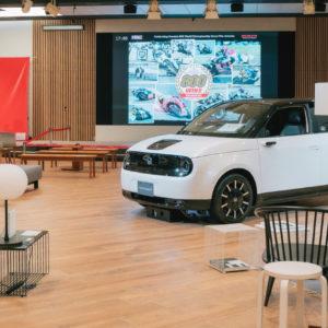 まるで走るリビング!?Hondaの新型電気自動車の魅力を体現した『Honda e Design Event』が開催中!