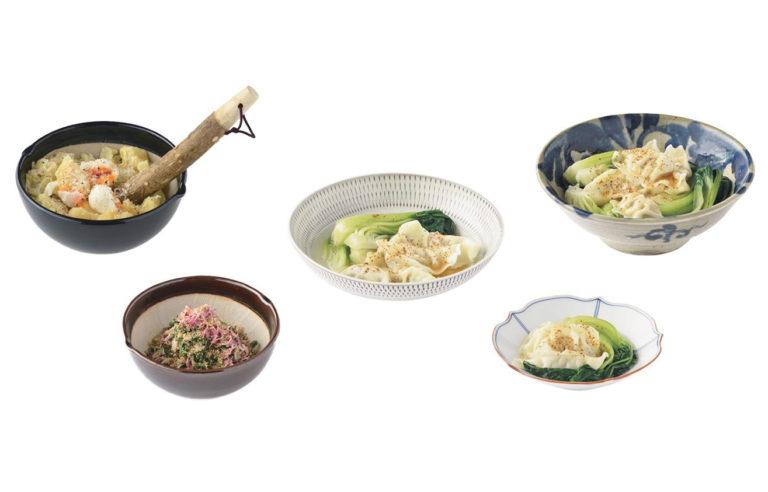 鉢のある食卓風景の画像一例。実際の使い方をイメージすることができる。