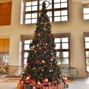 ロビーフロアには大きなクリスマスツリーが!