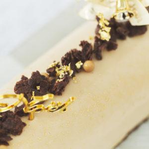 トップにはクッキー生地とチョコレートを合わせたサブレショコラを乗せて、サクサクとした食感も楽しめます。