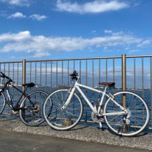 愛用の自転車。