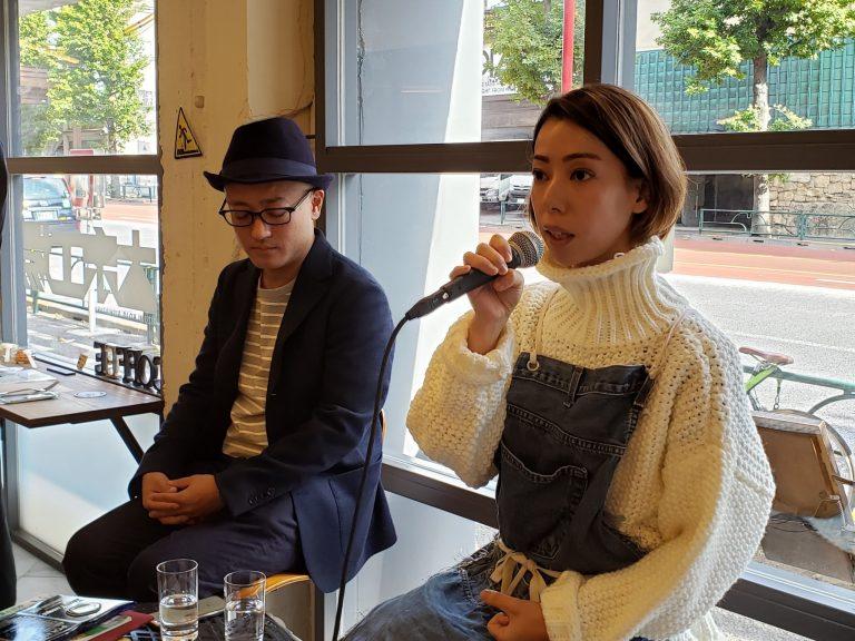 手前より薬膳料理研究家・ヤマグチヒロさん、〈米豆麦造り株式会社〉代表取締役・入海健さん。