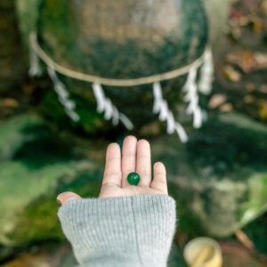 #玉作湯神社 #叶い石