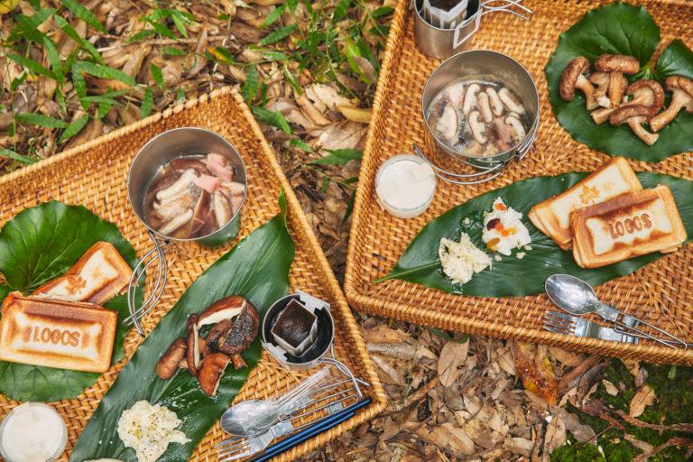 左から土屋さん、佐久間さん作。残ったチーズはドライフルーツやオリーブオイル、胡椒でシンプルに味付けしていただきます。コーヒーやデザートのパンナコッタも一緒に。