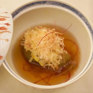 「ホテル椿山荘東京伝統の味 米茄子の鴫炊き」。