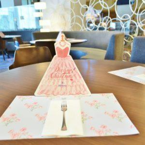 テーブルに置かれたランチョンマットやメニューにキュンキュンしちゃう!