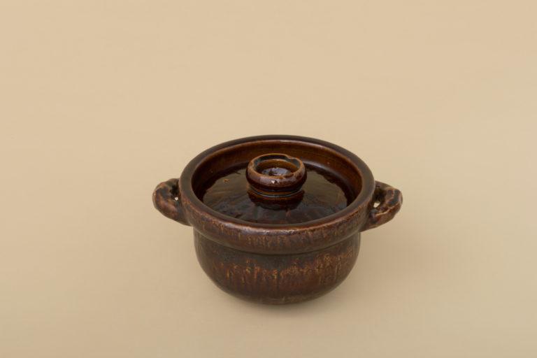 〈一志郎窯〉のアメ釉飯炊土鍋