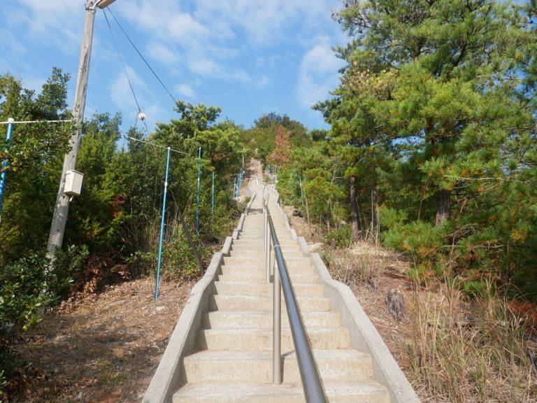 長い階段だけど、ここは歩きやすい方。
