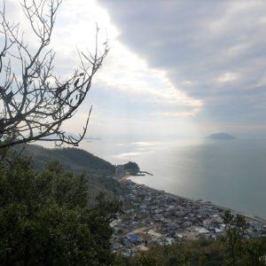 小瀬石鎚神社から見える小豆島の西端の景色。