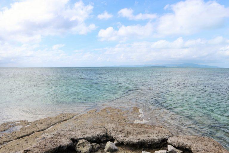 澄み渡る海がきれい!