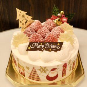 「クリスマス・ショートケーキ」4号3,300円、5号4,300円、6号5,300円、7号7,300円、8号10,000円(写真は5号)。