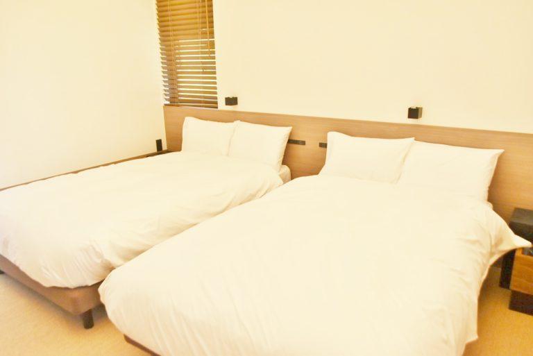 大きなベッドも完備。