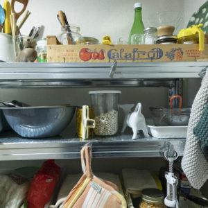 料理上手なみつ子のキッチン。愛用のツールが大充実。