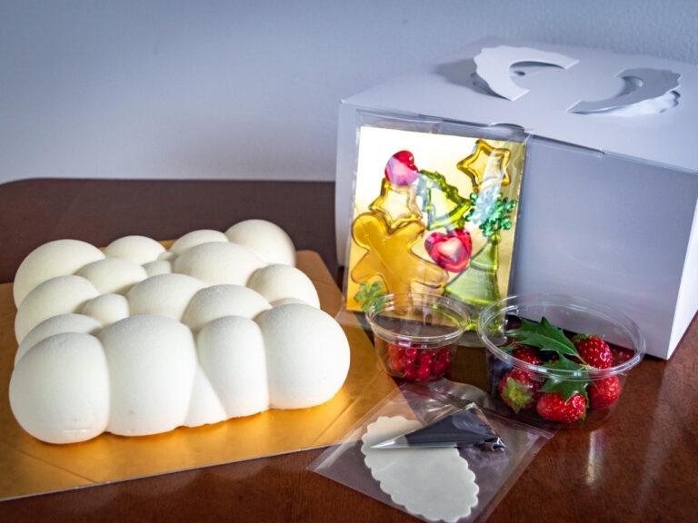 """「シェフパティシエ特製 クリスマスケーキ""""Pleasant""""」6,000円。"""