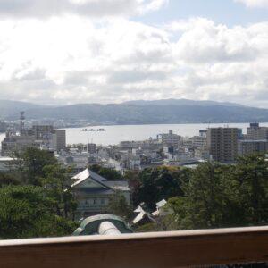 宍道湖が一望できる南側。