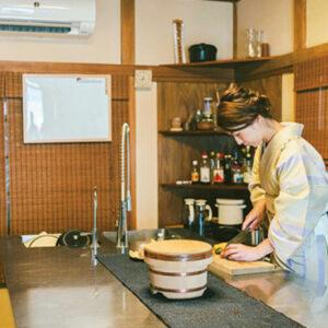 着物が似合う清水さん。実家は京都の呉服屋さんと聞いて納得。