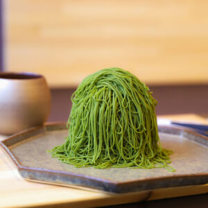 「宇治抹茶モンブラン」1,800円(ドリンク付)