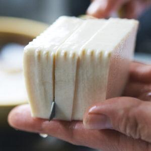 【POINT】豆腐は平べったく