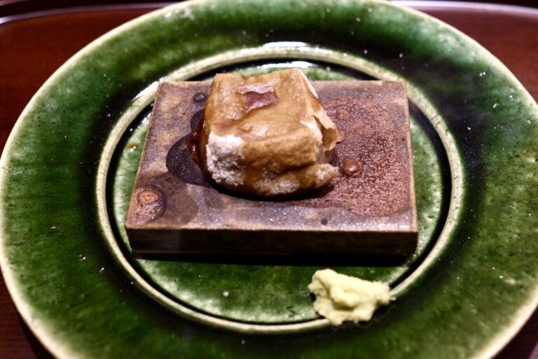 「くろぎ名物 焼き胡麻豆腐」。