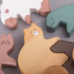 おもちゃの動物は、全4種類。