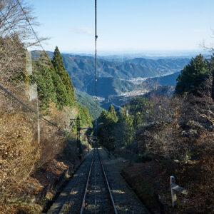 傾斜から見える絶景はケーブルカーならでは!