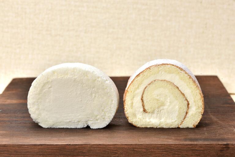 「ミルク」は生地をひと巻き、「チーズ」は生地をふた巻き。