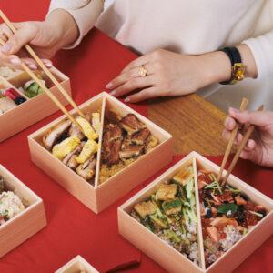 「食べ比べるとわかる各店それぞれの技!」(奈良さん)。こんな贅沢は「日本橋宴づつみ」ならでは。