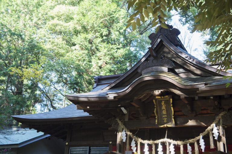 一の宮はひとつの国に2カ所あることも。氷川神社とは別の氷川女體神社(ひかわにょたいじんじゃ)もそれにあたる。本殿の額には「武蔵一宮」とある。