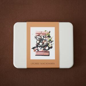 爽やかなライチの香りと、ナッツの軽やかな食感が新感覚。「ライチ マカダミア」1,834円。