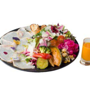 「燻製ローストポークと10種のメリメロサラダ」1,600円