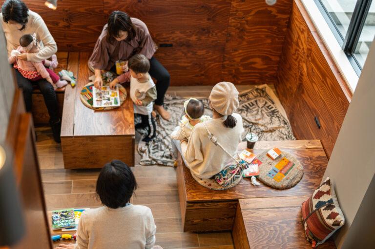 子どもたちとくつろげる空間。