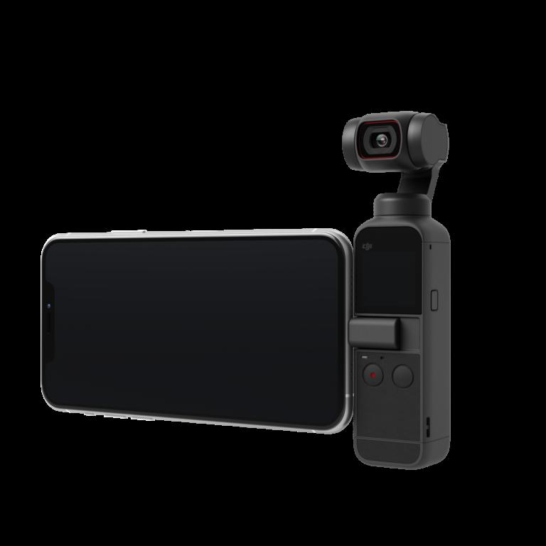 アプリ「DJI Mimo」と連携してスマートフォンと接続すれば、より大画面で撮影も可能に。