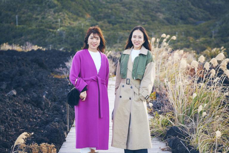 ハナコラボパートナーの土屋志織さん(左)、西嶋いぶきさん(右)。
