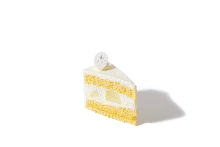 帯刀さんの洋梨のショートケーキ 480円『コクと香りが後を引くクリームが本当に程よい』(スイーツOLなりさん)