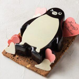 「Suicaのペンギン バレンタインケーキ」縦16cm×横10cm 4,500円。