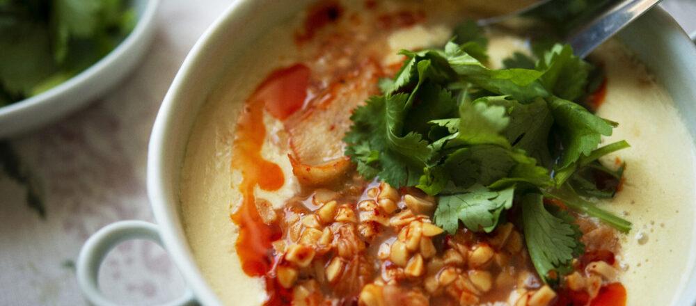 キムチで腸活!朝に食べたい体にやさしい「納豆キムチの鹹豆漿」のレシピ