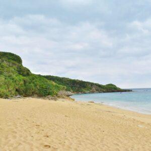穴場的ビーチの「高江ビーチ」。