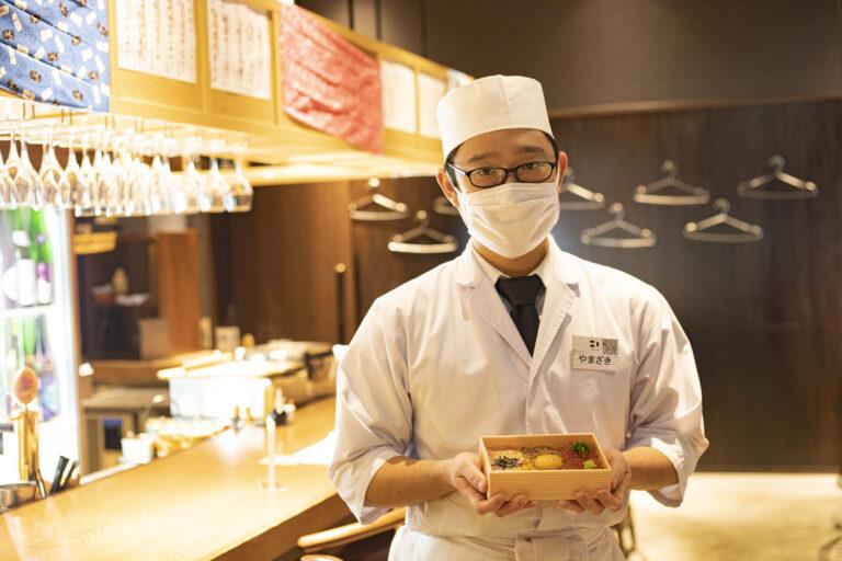 「三浦半島の佐島まで仕入れに行っています。店でも人気の味をテイクアウトでお楽しみください」