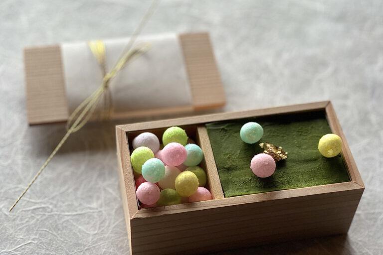 「 抹茶羊羹」900円(税別)。濃厚なカカオとお抹茶の風味が広がる人気の甘味。