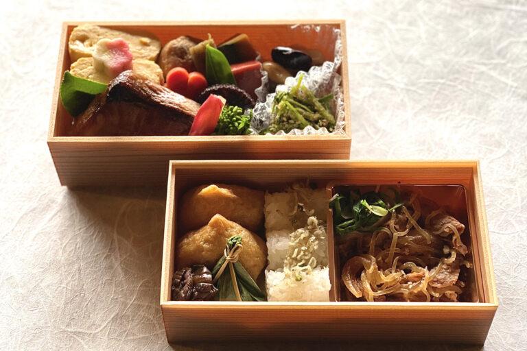 「おうち料亭 ~ 贅沢弁当 ~」(1人前)3,000円(税別)。上品に仕上げた和牛のすき焼きや出汁巻きなど全10品。