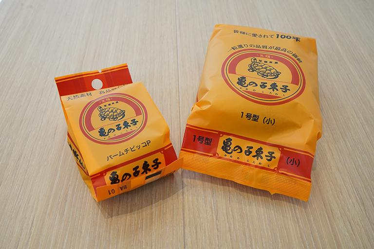 「パームチビッコP」407円、「亀の子束子1号」429円。