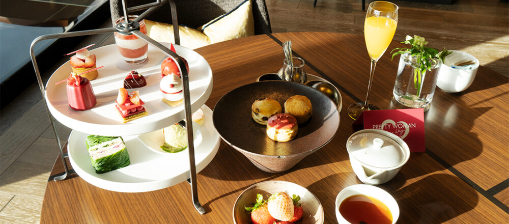〈フォーシーズンズホテル東京大手町〉の「プリティウーマンアフタヌーンティー」で贅沢なひとときを。