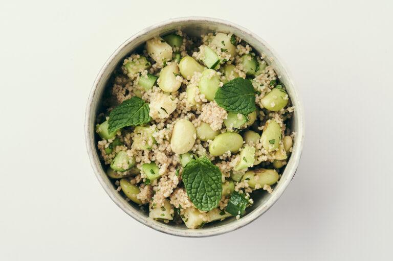 「秘伝豆とクスクスのサラダ」