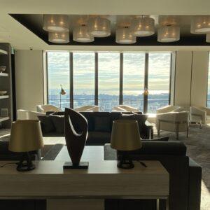 宿泊者のみ利用できる「レジデンツ・ラウンジ」。24時間オープン、コーヒーなどドリンクのセルフサービスのコーナーもあり、気分を変えて仕事をする時などに最高の環境。