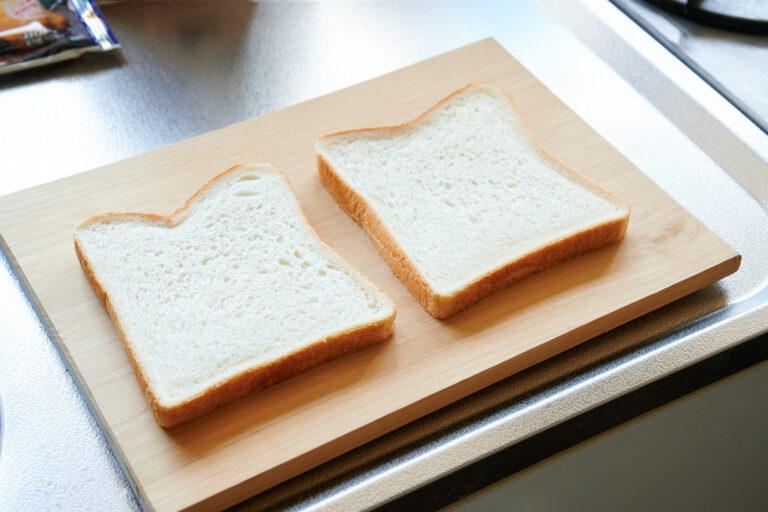 【POINT】食パンは8枚切り。今回は2枚使います。