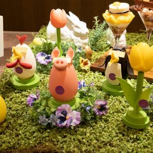 ぶた、ニワトリ、ペンギン、チューリップと4種類ある「イースターエッグ」 各4,212円。販売期間は4月30日まで。