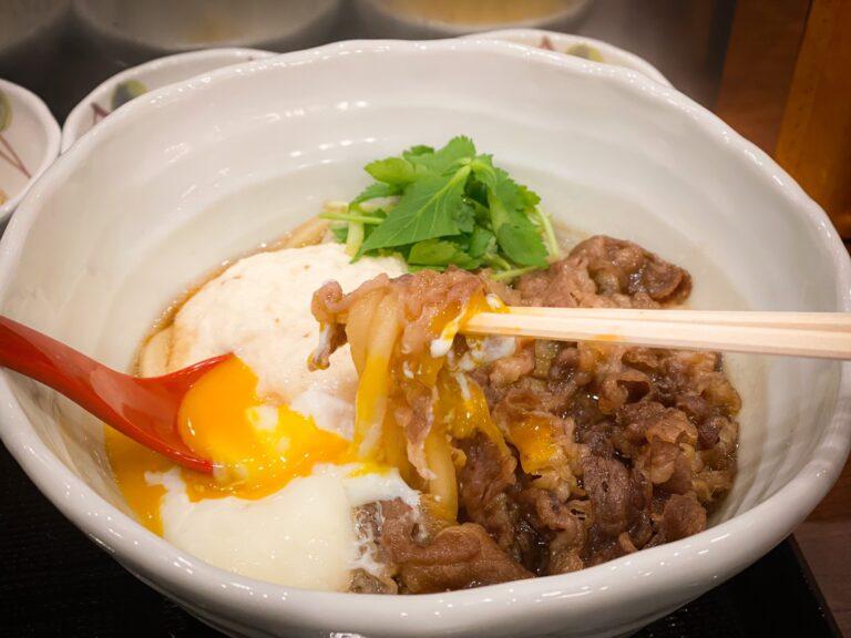 丸亀製麺『神戸牛と大和芋のとろ玉うどん』