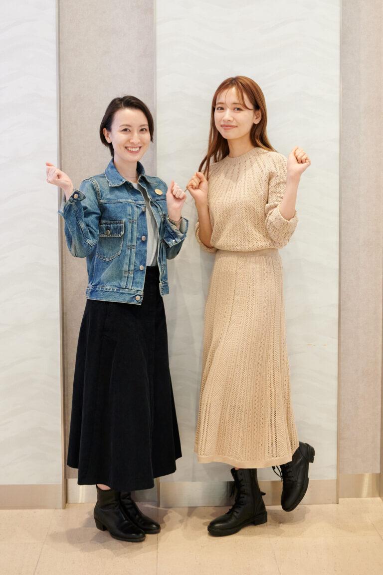 (左)前田紀至子(右)赤埴奈津子