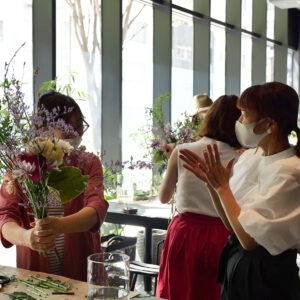 〈unis〉シェフパティシエとのコラボが実現!春を彩るお花×デザートのコラボイベントを開催。